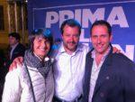 Matteo Salvini invita al voto per la Lega di Giaveno
